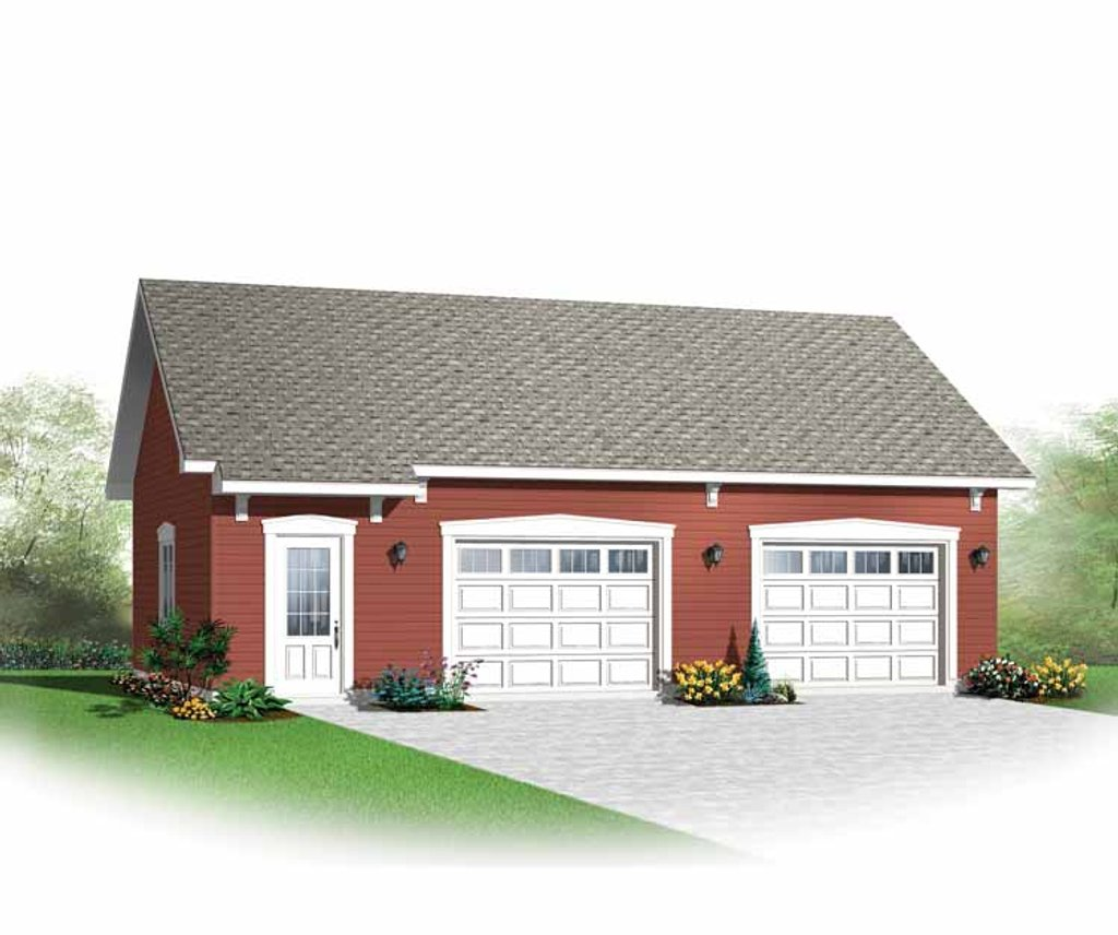 Traditional style house plan 0 beds 0 baths 0 sq ft plan for Four square house plans with attached garage