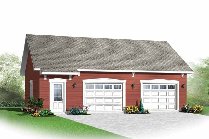 Traditional Exterior - Front Elevation Plan #23-2514 - Houseplans.com