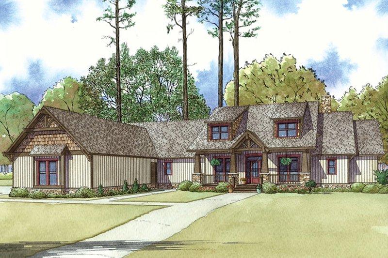 House Plan Design - Craftsman Exterior - Front Elevation Plan #17-3407