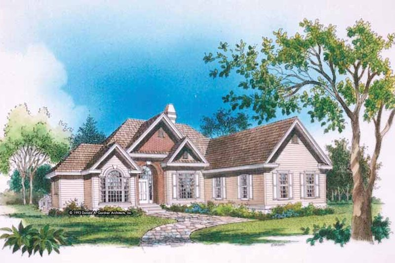Ranch Exterior - Front Elevation Plan #929-166