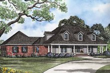 Country Exterior - Front Elevation Plan #17-3201