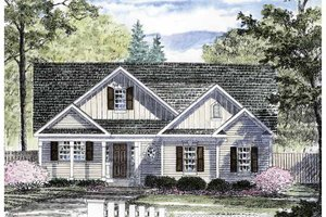 Dream House Plan - Craftsman Exterior - Front Elevation Plan #316-257