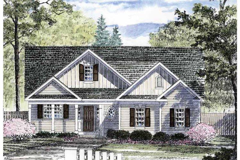 Dream House Plan - Craftsman Exterior - Front Elevation Plan #316-257