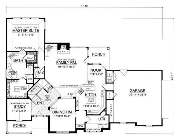 Traditional Floor Plan - Main Floor Plan Plan #40-260