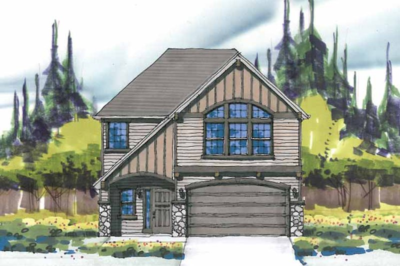 Craftsman Exterior - Front Elevation Plan #509-278