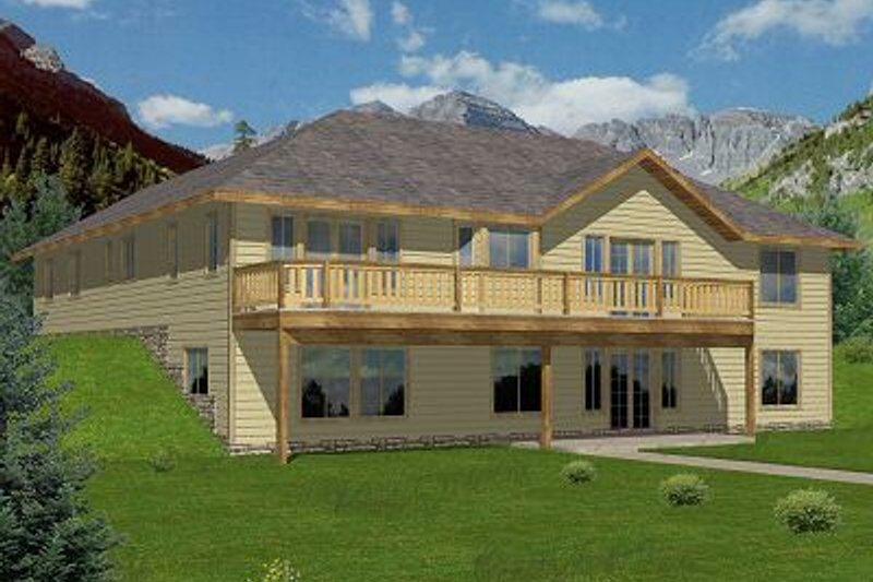 Exterior - Front Elevation Plan #117-532 - Houseplans.com