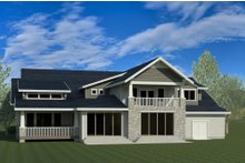 Country Exterior - Rear Elevation Plan #920-14