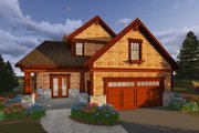 Craftsman Style House Plan - 5 Beds 3.5 Baths 4646 Sq/Ft Plan #70-1433 Exterior - Front Elevation