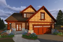 House Plan Design - Craftsman Exterior - Front Elevation Plan #70-1433