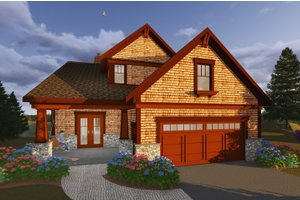 Craftsman Exterior - Front Elevation Plan #70-1433