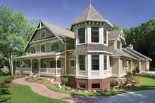Architectural House Design - Victorian Exterior - Front Elevation Plan #928-35