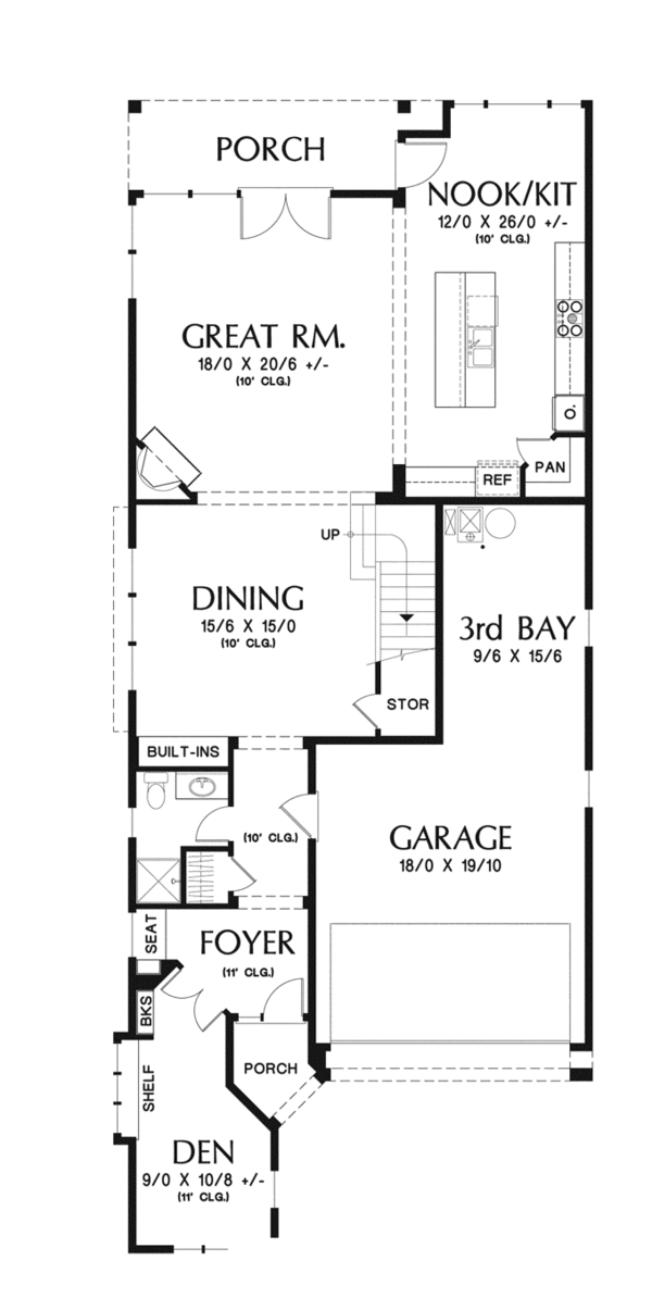 Traditional Floor Plan - Main Floor Plan Plan #48-902