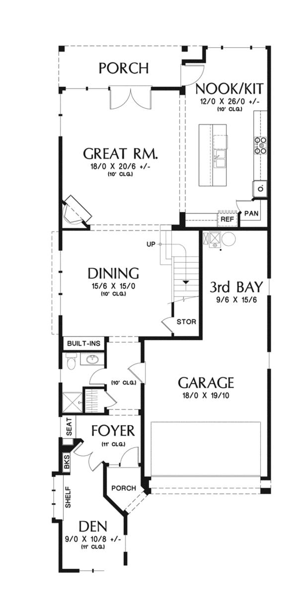 Home Plan - Traditional Floor Plan - Main Floor Plan #48-902