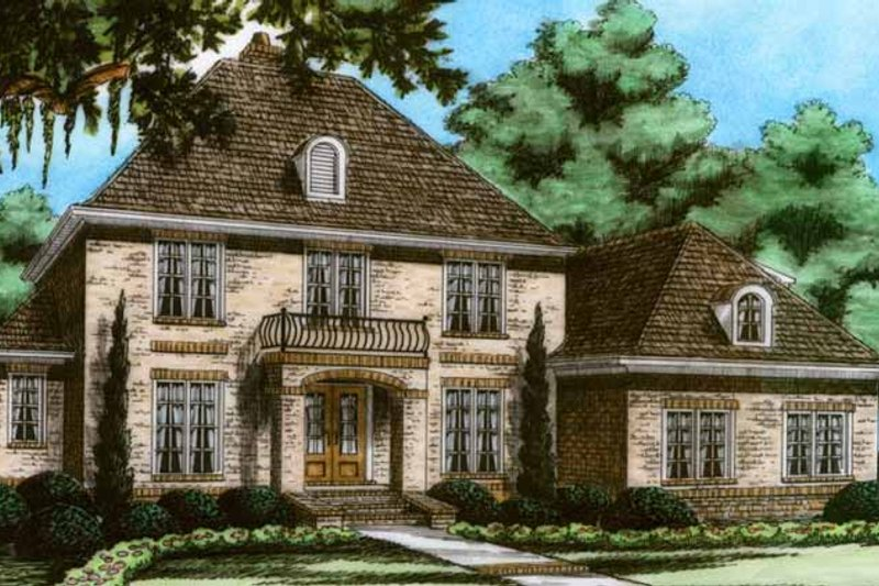 European Exterior - Front Elevation Plan #991-18