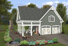 Dream House Plan - Traditional Exterior - Other Elevation Plan #56-569