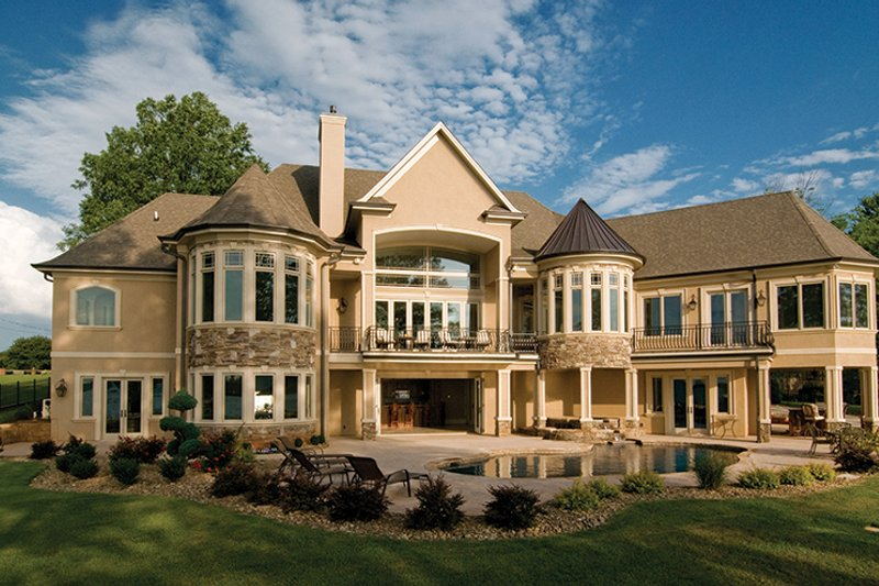 European Exterior - Rear Elevation Plan #929-895 - Houseplans.com