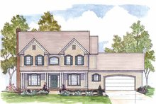 House Plan Design - Traditional Exterior - Front Elevation Plan #435-25