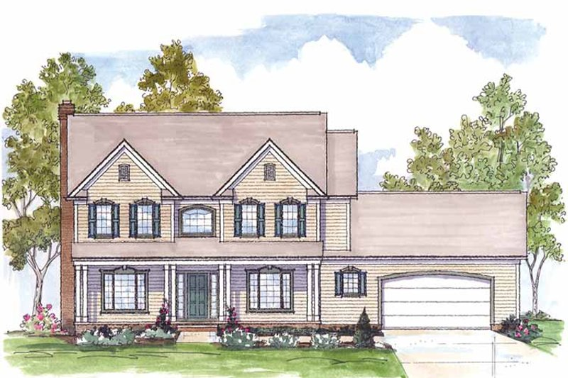 Traditional Exterior - Front Elevation Plan #435-25 - Houseplans.com