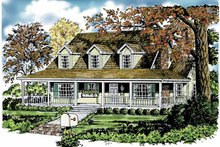House Plan Design - Country Exterior - Front Elevation Plan #40-441