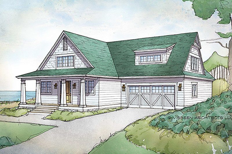 Architectural House Design - Traditional Exterior - Front Elevation Plan #928-288