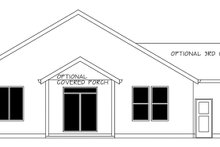 Ranch Exterior - Rear Elevation Plan #943-50