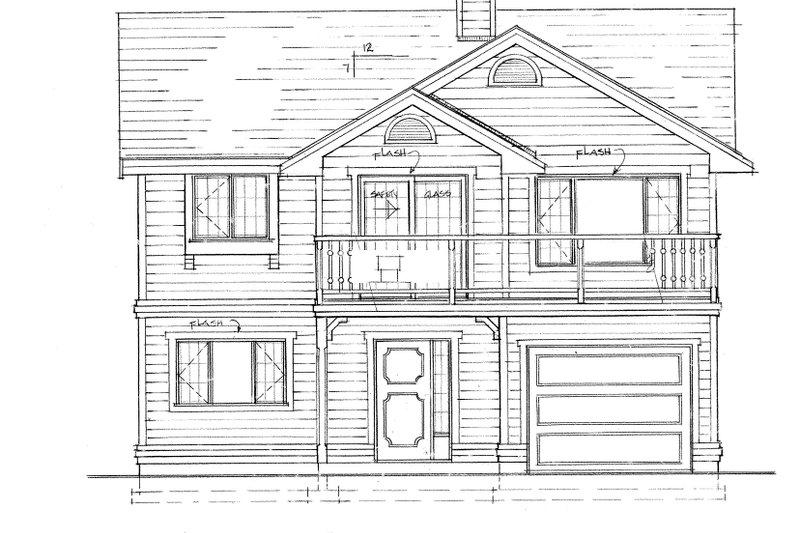 Craftsman Exterior - Front Elevation Plan #47-694 - Houseplans.com