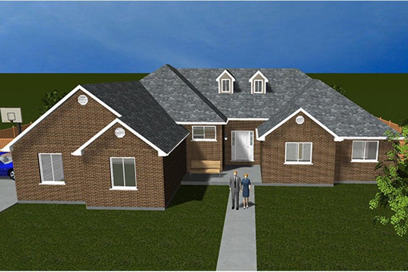 Ranch Exterior - Front Elevation Plan #1060-13