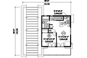 Country Style House Plan - 0 Beds 0 Baths 637 Sq/Ft Plan #25-4754 Floor Plan - Upper Floor Plan