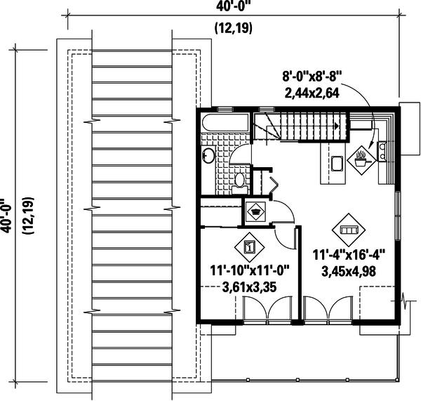 Country Floor Plan - Upper Floor Plan Plan #25-4754