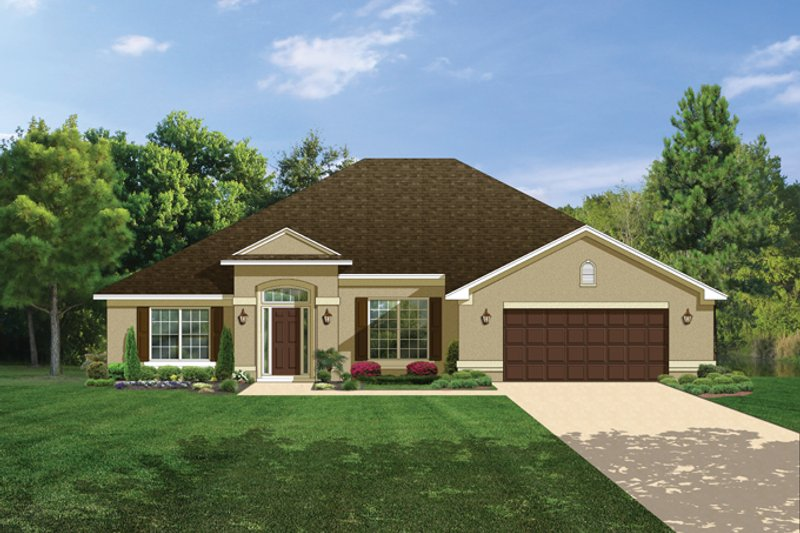 Mediterranean Exterior - Front Elevation Plan #1058-27