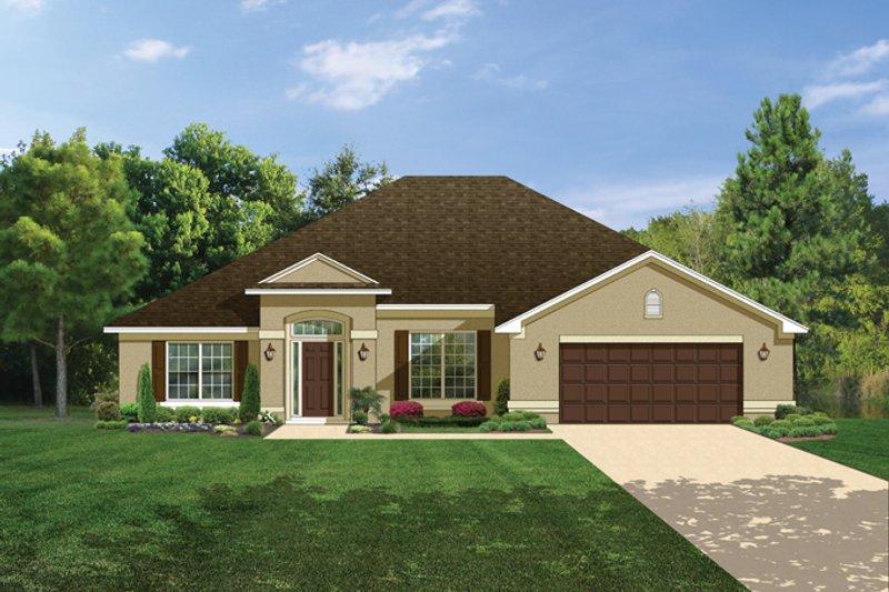 House Plan Design - Mediterranean Exterior - Front Elevation Plan #1058-27