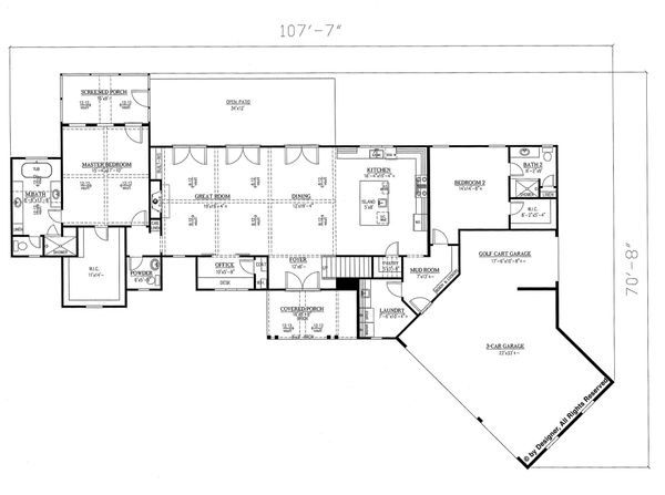 Dream House Plan - Traditional Floor Plan - Main Floor Plan #437-83