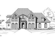 European Style House Plan - 4 Beds 4.5 Baths 5208 Sq/Ft Plan #411-118 Exterior - Front Elevation