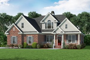 Country Exterior - Front Elevation Plan #929-470
