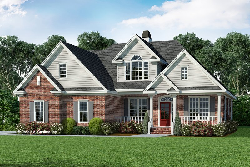 Home Plan - Country Exterior - Front Elevation Plan #929-470
