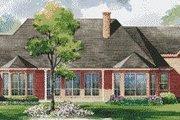 European Style House Plan - 4 Beds 4 Baths 3858 Sq/Ft Plan #20-1172 Exterior - Rear Elevation