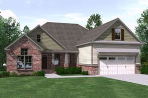 Architectural House Design - Ranch Exterior - Front Elevation Plan #1071-14