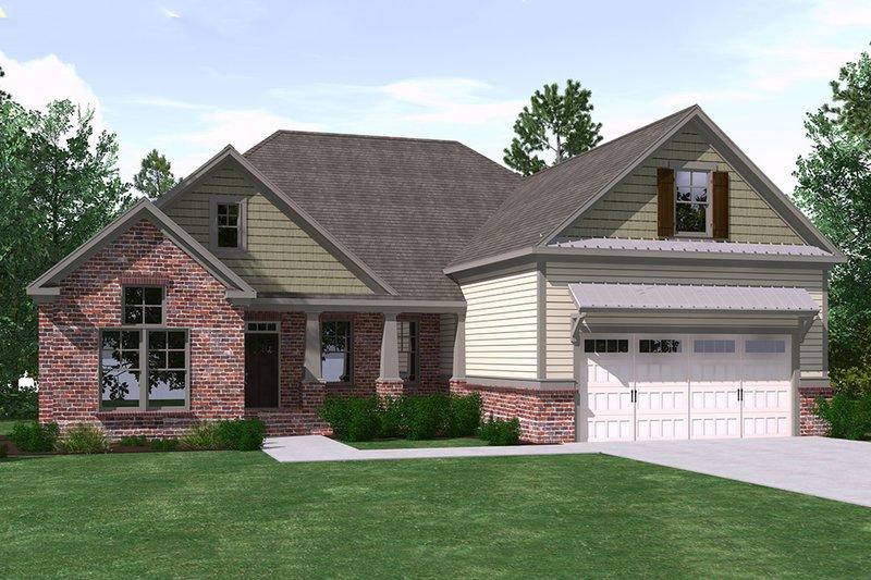 House Plan Design - Ranch Exterior - Front Elevation Plan #1071-14