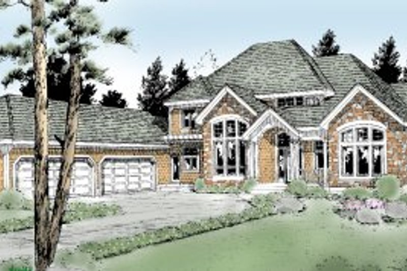 Traditional Exterior - Front Elevation Plan #97-215