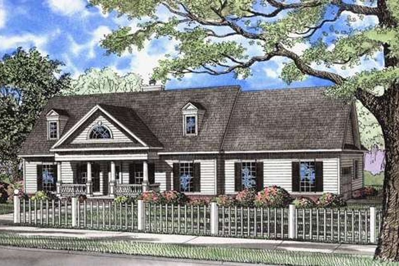 Dream House Plan - Southern Exterior - Front Elevation Plan #17-536