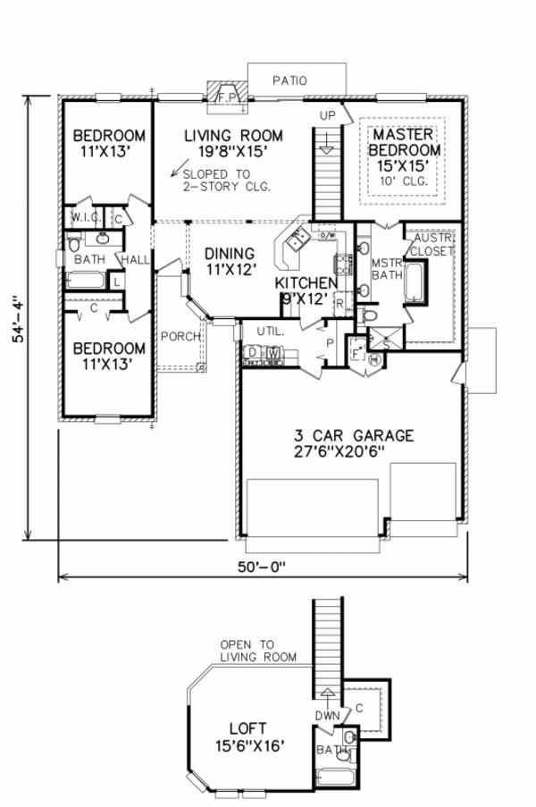 Traditional Floor Plan - Main Floor Plan Plan #65-171