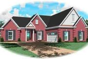 Colonial Style House Plan - 3 Beds 3 Baths 2590 Sq/Ft Plan #81-567 Exterior - Front Elevation