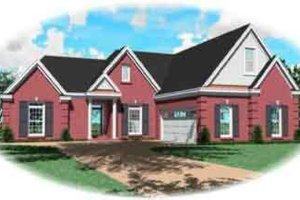 Colonial Exterior - Front Elevation Plan #81-567
