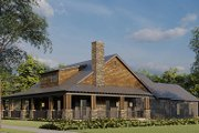 Farmhouse Style House Plan - 2 Beds 3 Baths 1805 Sq/Ft Plan #923-174 Exterior - Other Elevation