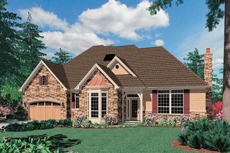 Traditional Exterior - Front Elevation Plan #48-297
