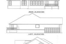 Home Plan - European Exterior - Rear Elevation Plan #17-1021