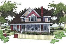 Country Exterior - Front Elevation Plan #120-145