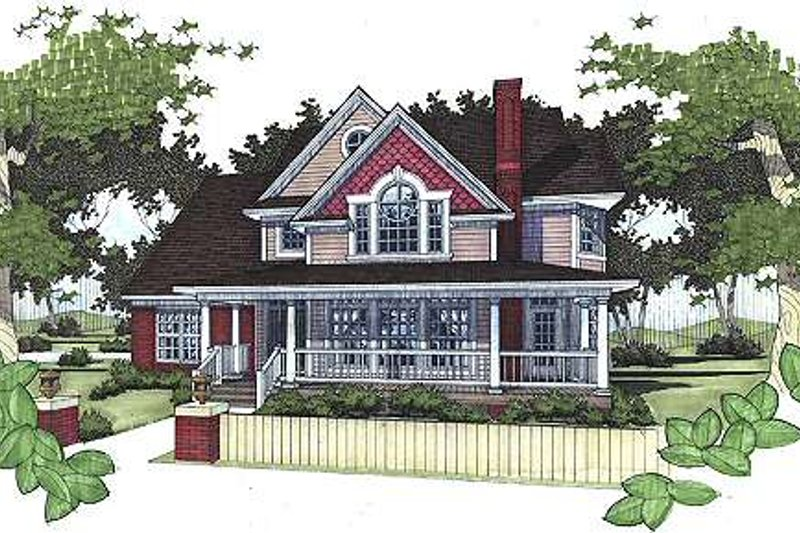 Dream House Plan - Country Exterior - Front Elevation Plan #120-145