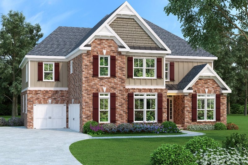 Home Plan - Traditional Exterior - Front Elevation Plan #419-193