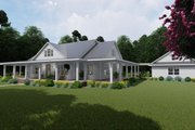Farmhouse Style House Plan - 3 Beds 2 Baths 2748 Sq/Ft Plan #120-254 Exterior - Front Elevation